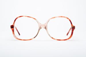 Sunrise ombre  glasses. Vintage Orbit thin butterfly shape.