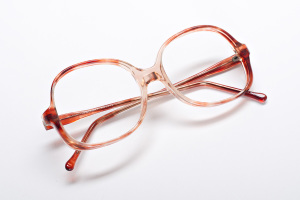 Sunrise ombre  glasses. Vintage Orbit butterfly shaped frames.
