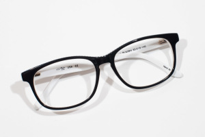 Cate - Capetown - Black White Striped Modern Glasses -3