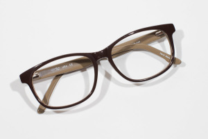 Cate - Capetown - Brown Striped Modern Glasses -3