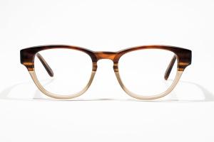 Matte brown glasses with keyhole bridge