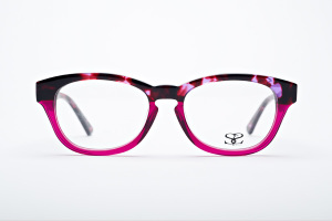 Two tone tortoise and hot pink glasses