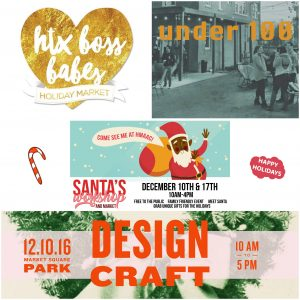 Holiday Markets to Shop Small 2016
