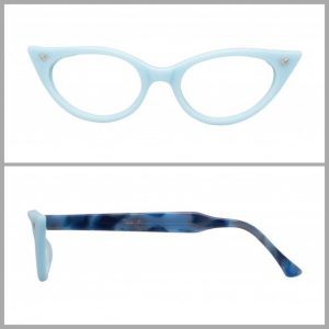 Baby pastel blue cat eye glasses