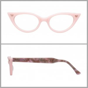 Bay be pink pastel cat eye with pointy tips